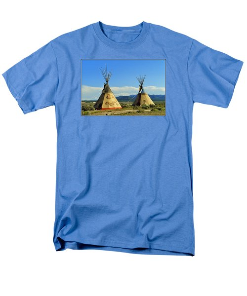 Native American Teepees  Men's T-Shirt  (Regular Fit) by Dora Sofia Caputo Photographic Art and Design