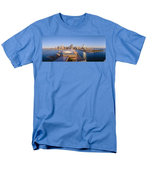 Navy Pier, Chicago, Morning, Illinois Men's T-Shirt  (Regular Fit) by Panoramic Images