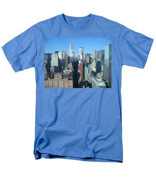 Men's T-Shirt  (Regular Fit) featuring the photograph New York City Skyline by Dora Sofia Caputo Photographic Art and Design
