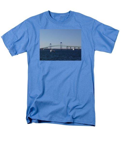 Newport Bridge Men's T-Shirt  (Regular Fit) by Robert Nickologianis