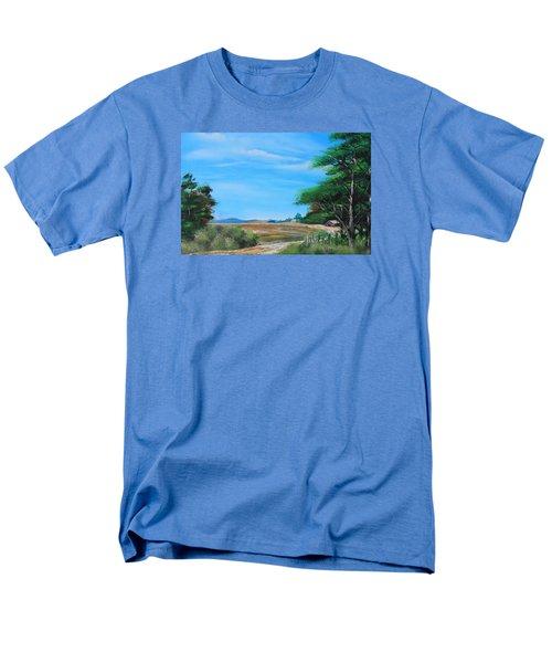 Nipa Hut In The Barrio Men's T-Shirt  (Regular Fit) by Remegio Onia