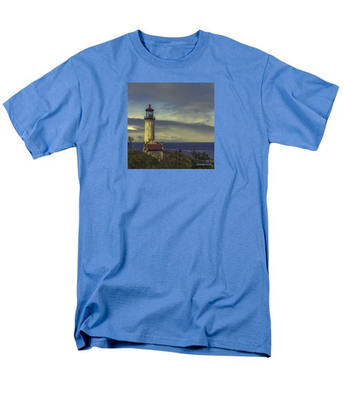 North Head Lighthouse Men's T-Shirt  (Regular Fit) by Jean OKeeffe Macro Abundance Art