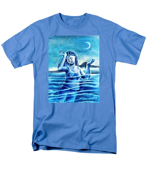 Men's T-Shirt  (Regular Fit) featuring the painting Not Waving But Drowning by Trudi Doyle