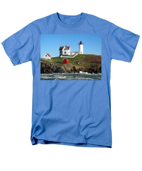 Men's T-Shirt  (Regular Fit) featuring the photograph Nubble Lighthouse One by Barbara McDevitt