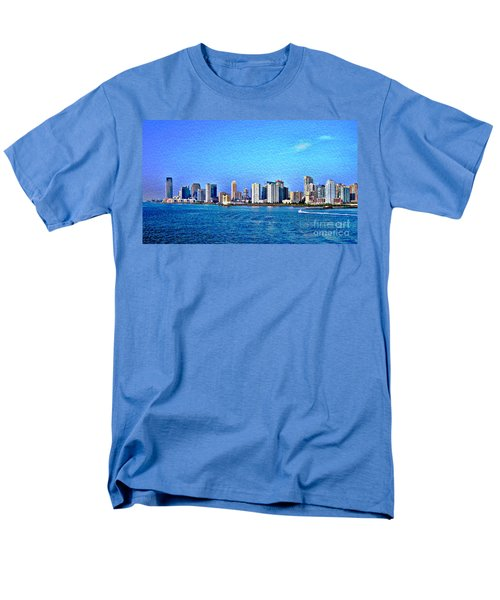 Men's T-Shirt  (Regular Fit) featuring the photograph Nyc  The Big Apple  by Judy Palkimas