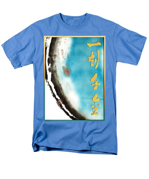 Men's T-Shirt  (Regular Fit) featuring the mixed media One Moment Thousand Gold - Every Moment Is Precious by Peter v Quenter