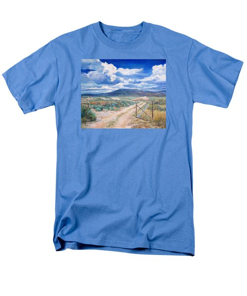 Osceola Nevada Ghost Town Men's T-Shirt  (Regular Fit) by Donna Tucker