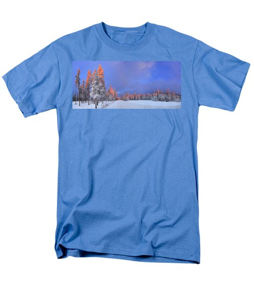 Other Side Of A Winter Sunset Men's T-Shirt  (Regular Fit) by David Andersen
