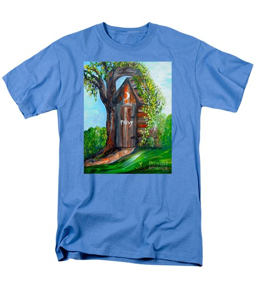 Men's T-Shirt  (Regular Fit) featuring the painting Outhouse - Privy - The Old Out House by Eloise Schneider