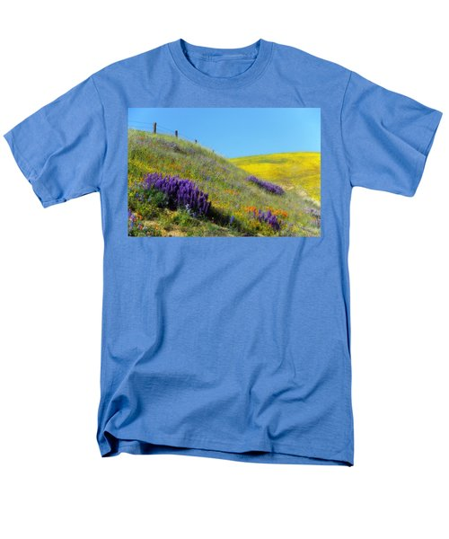 Painted With Wildflowers Men's T-Shirt  (Regular Fit) by Lynn Bauer