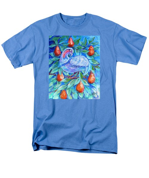 Men's T-Shirt  (Regular Fit) featuring the painting Partridge In A Pear Tree  by Trudi Doyle