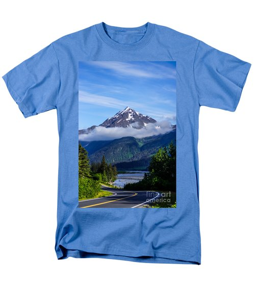 Path Through Alaska Men's T-Shirt  (Regular Fit) by Jennifer White