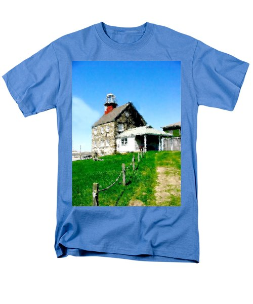 Men's T-Shirt  (Regular Fit) featuring the painting Pathway To Happiness  by Iconic Images Art Gallery David Pucciarelli