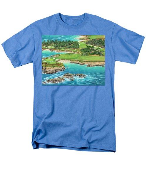 Pebble Beach 15th Hole-south Men's T-Shirt  (Regular Fit)