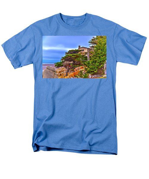 Pebble Beach Ca Men's T-Shirt  (Regular Fit) by Richard J Cassato