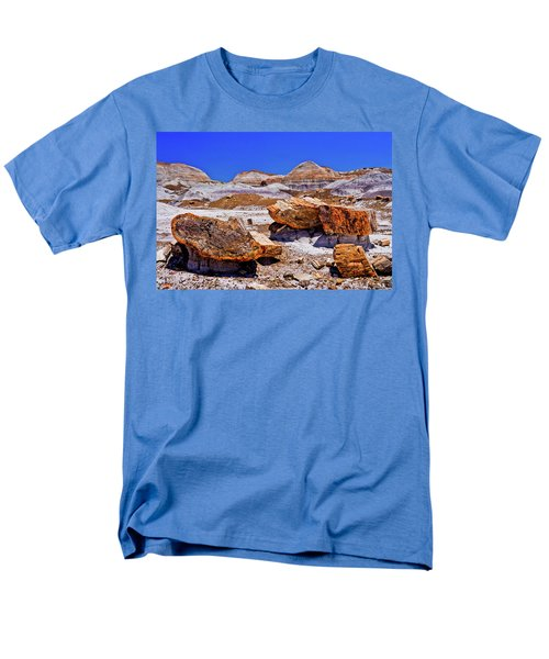 Men's T-Shirt  (Regular Fit) featuring the photograph Petrified Forest - Painted Desert by Bob and Nadine Johnston