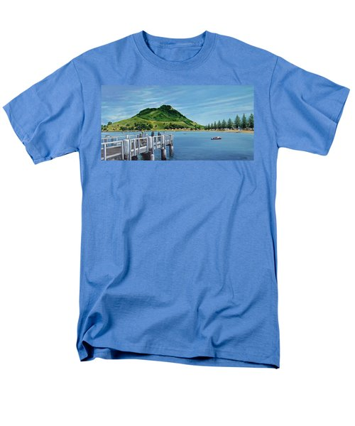 Men's T-Shirt  (Regular Fit) featuring the painting Pilot Bay 280307 by Sylvia Kula