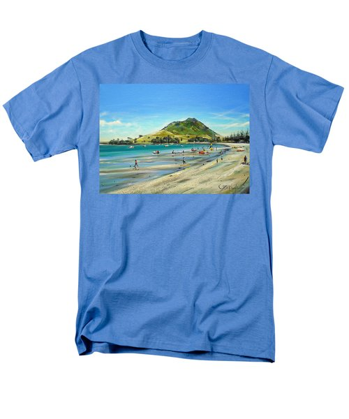 Men's T-Shirt  (Regular Fit) featuring the painting Pilot Bay Mt M 050110 by Sylvia Kula