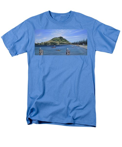 Men's T-Shirt  (Regular Fit) featuring the painting Pilot Bay Mt M 291209 by Sylvia Kula