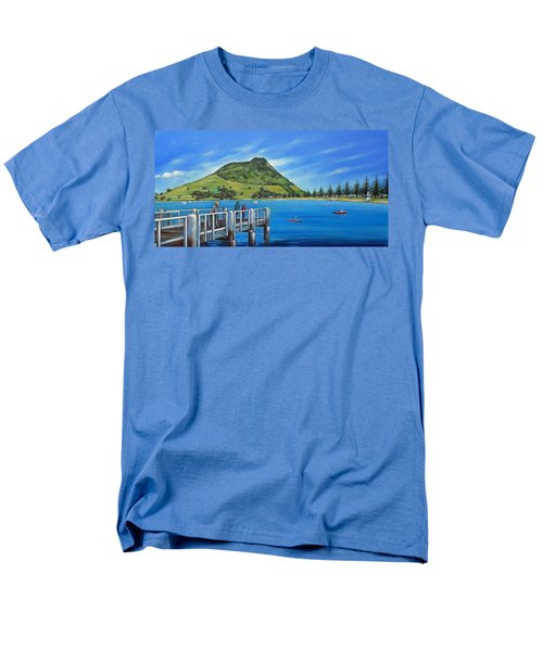 Men's T-Shirt  (Regular Fit) featuring the painting Pilot Bay Mt Maunganui 201214 by Selena Boron
