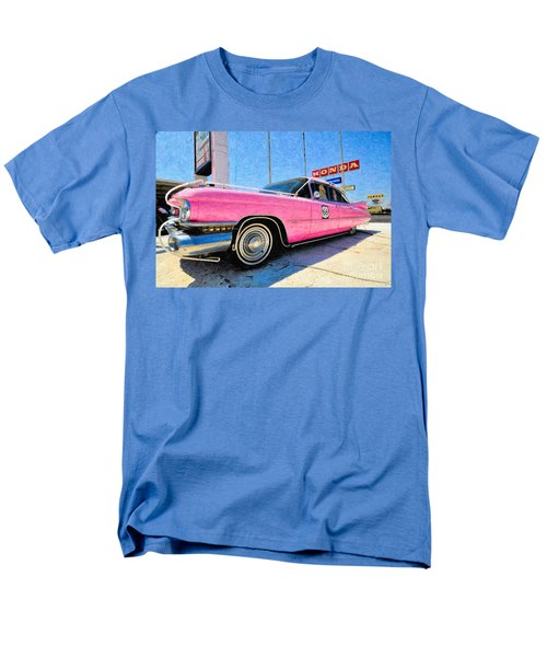 Pink Cadillac Men's T-Shirt  (Regular Fit) by Liane Wright