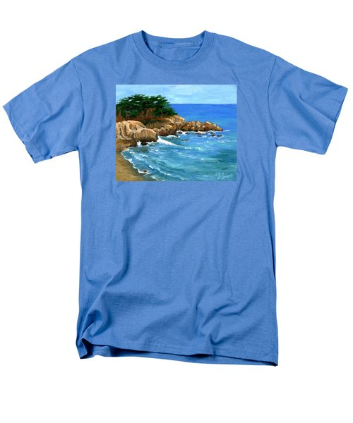 Point Lobos Coast Men's T-Shirt  (Regular Fit) by Alice Leggett
