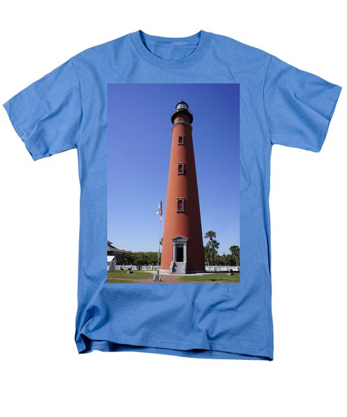 Men's T-Shirt  (Regular Fit) featuring the photograph Ponce Inlet Lighthouse by Laurie Perry