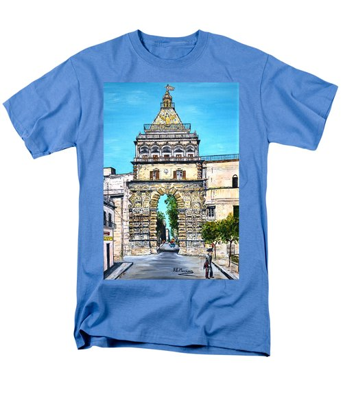 Porta Nuova - Palermo Men's T-Shirt  (Regular Fit) by Loredana Messina