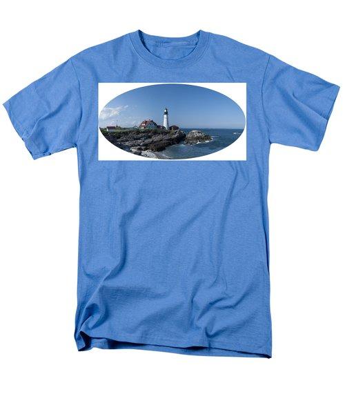 Men's T-Shirt  (Regular Fit) featuring the photograph Portland Head Light House by Daniel Hebard