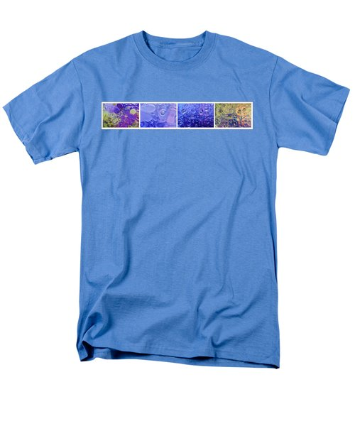 Men's T-Shirt  (Regular Fit) featuring the photograph Quadryptich Of Colorful Water Bubbles by Peter v Quenter