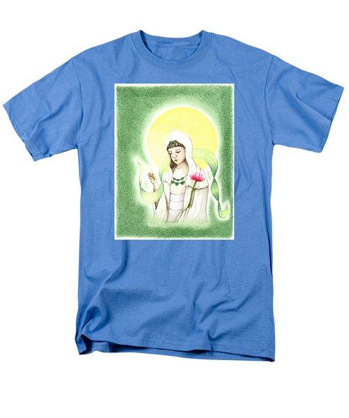 Men's T-Shirt  (Regular Fit) featuring the drawing Quan Yin by Keiko Katsuta