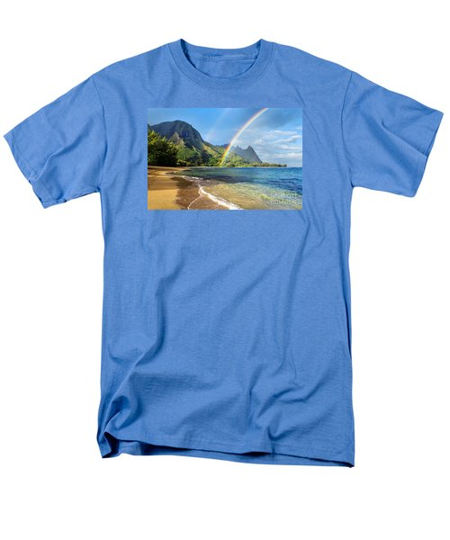 Rainbow Over Haena Beach Men's T-Shirt  (Regular Fit) by M Swiet Productions