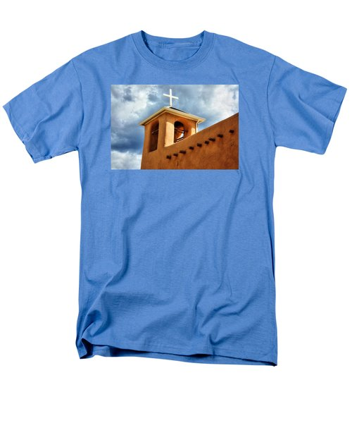 Men's T-Shirt  (Regular Fit) featuring the photograph Rancho De Taos Bell Tower And Cross by Lanita Williams