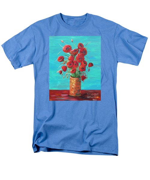 Men's T-Shirt  (Regular Fit) featuring the painting Red On My Table  by Eloise Schneider