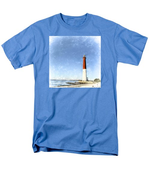 Retro Barnegat Lighthouse Barnegat Light New Jersey Men's T-Shirt  (Regular Fit) by Marianne Campolongo
