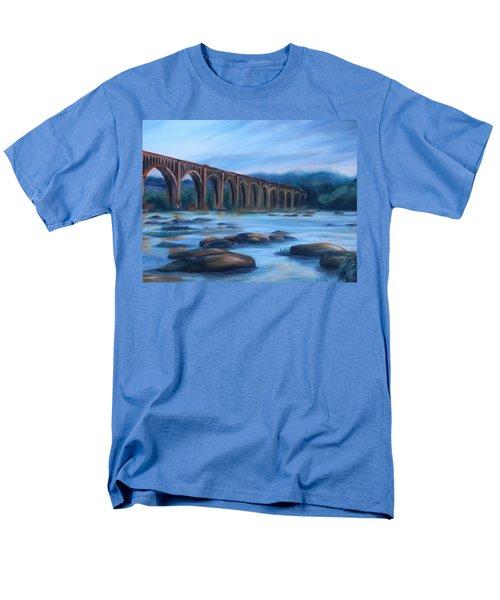 Men's T-Shirt  (Regular Fit) featuring the painting Richmond Train Trestle by Donna Tuten