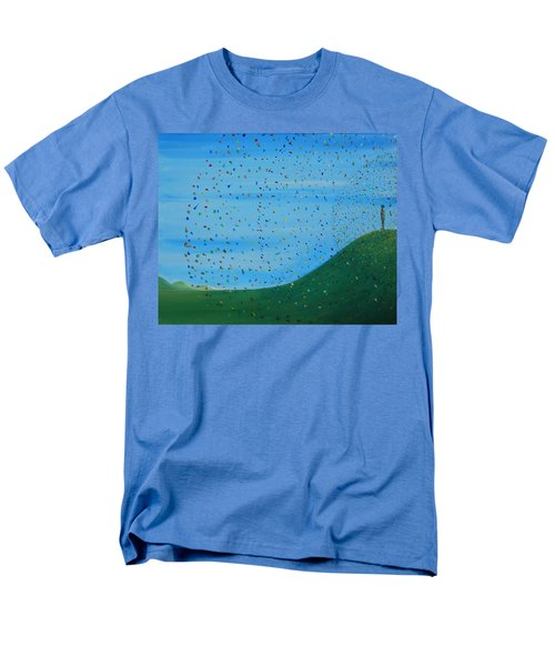 Men's T-Shirt  (Regular Fit) featuring the painting Ripples Of Life 2 by Tim Mullaney