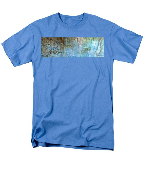 Men's T-Shirt  (Regular Fit) featuring the painting River's Stories  by Delona Seserman