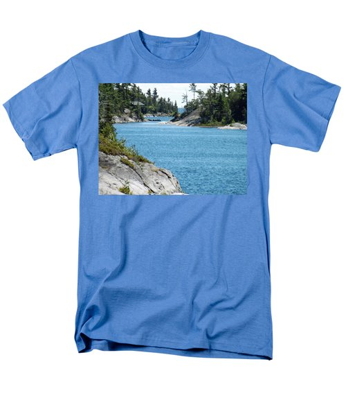 Rocks And Water Paradise Men's T-Shirt  (Regular Fit) by Brenda Brown