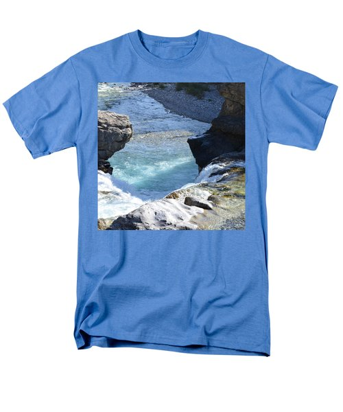 Elbow Falls Water  1.1 Men's T-Shirt  (Regular Fit) by Cheryl Miller