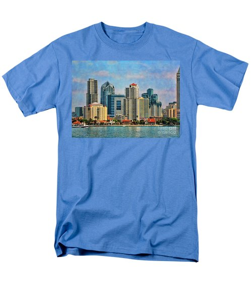 San Diego Skyline Men's T-Shirt  (Regular Fit) by Peggy Hughes