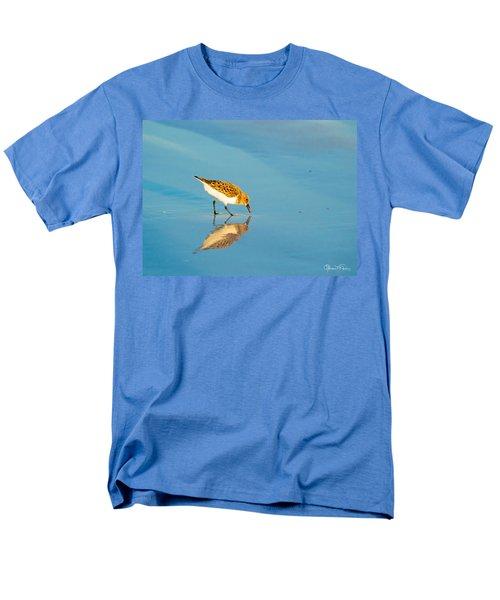 Sandpiper Mirror Men's T-Shirt  (Regular Fit) by Susan Molnar
