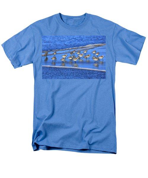Sandpiper Symmetry Men's T-Shirt  (Regular Fit) by Robert Bynum