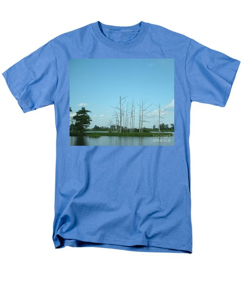 Men's T-Shirt  (Regular Fit) featuring the photograph Scenic Swamp Cypress Trees by Joseph Baril