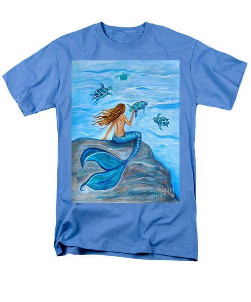 Sea Turtle Friends Men's T-Shirt  (Regular Fit) by Leslie Allen