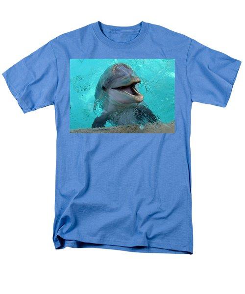 Men's T-Shirt  (Regular Fit) featuring the photograph Sea World Dolphin by David Nicholls