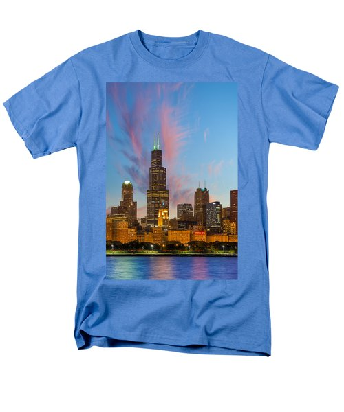 Men's T-Shirt  (Regular Fit) featuring the photograph Sears Tower Sunset by Sebastian Musial