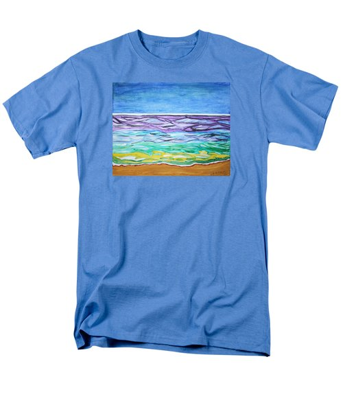 Men's T-Shirt  (Regular Fit) featuring the painting Seashore Blue Sky by Stormm Bradshaw