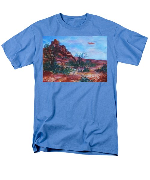 Sedona Red Rocks - Impression Of Bell Rock Men's T-Shirt  (Regular Fit) by Ellen Levinson