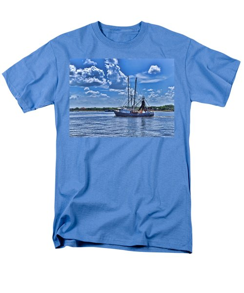 Shrimp Boat Heading To Sea Men's T-Shirt  (Regular Fit) by Ludwig Keck